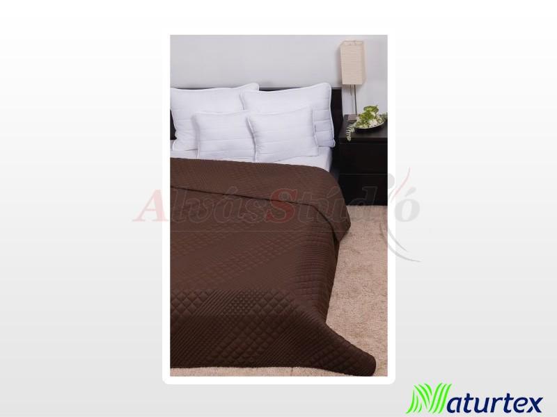 Naturtex Clara csoki kocka steppelésű ágytakaró 235x250 cm