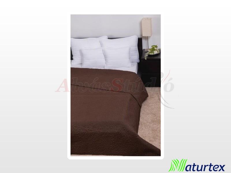 Naturtex Clara sötétbarna márvány steppelésű ágytakaró 235x250 cm