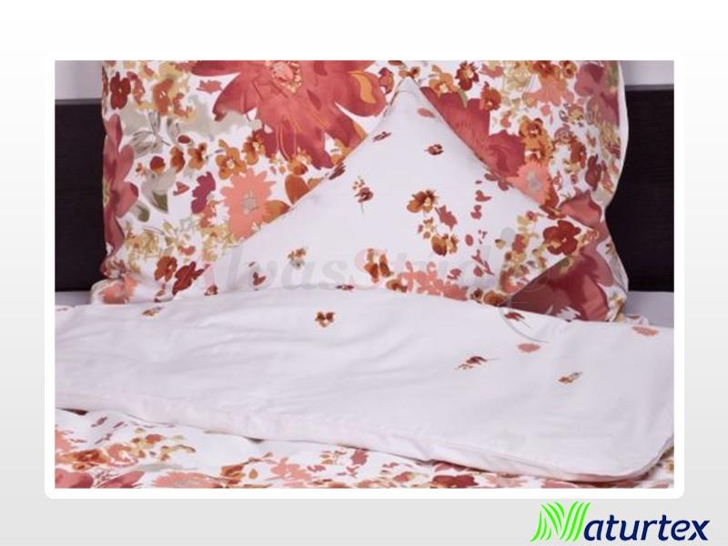 Naturtex 5 részes pamut-szatén ágyneműgarnitúra Bloom ősz 200x220 cm - 2db 70x90 cm - 2 db 40x50 cm