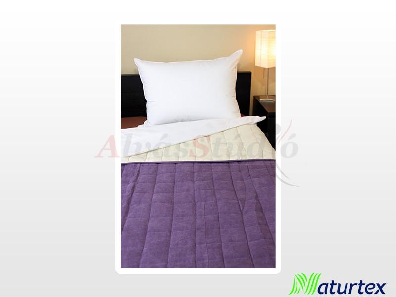 Naturtex Bőrhatású ágytakaró Törtfehér-lila 140x240 cm
