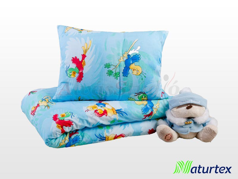 Naturtex 2 részes Parrots gyermek ágyneműhuzat 90x130 cm - 40x50 cm