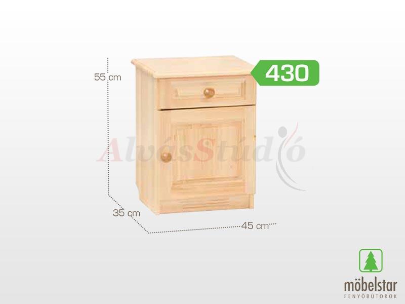 Möbelstar 430 - 1 ajtós 1 fiókos éjjeliszekrény 55x35 cm