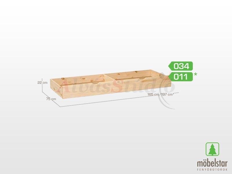Möbelstar 034 - ágyneműtartó fiók 22x75 cm