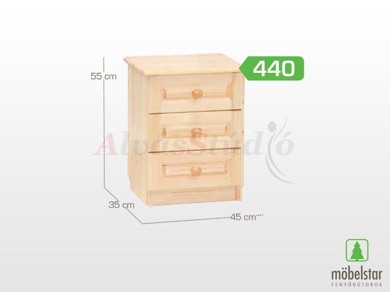 Möbelstar 440 - 3 fiókos éjjeliszekrény 55x35 cm