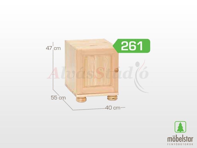 Möbelstar 261 - 1 ajtós szekrény magasító 41x55 cm