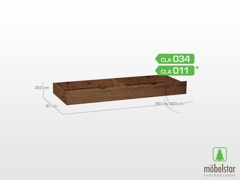 Möbelstar CLA 034 - Pácolt ágyneműtartó fiók 22x75 cm
