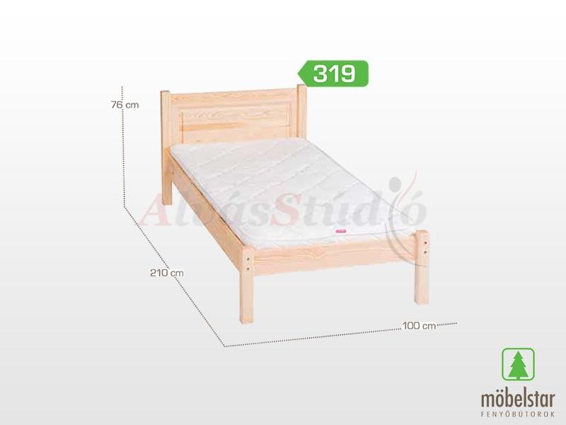 Möbelstar 319 - fenyő ágykeret (natúr) 90x200 cm