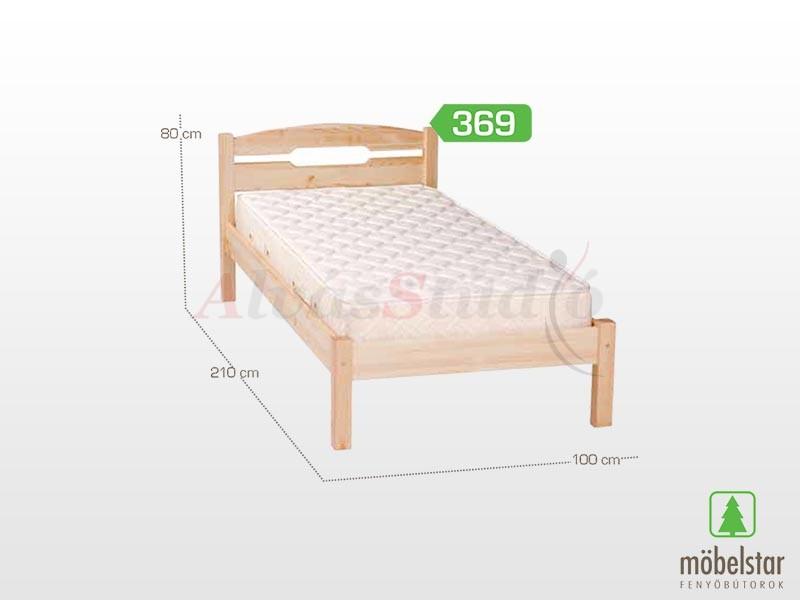 Möbelstar 369 - fenyő ágykeret (natúr) 90x200 cm