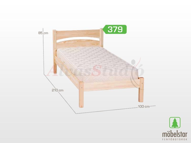 Möbelstar 379 - fenyő ágykeret (natúr) 90x200 cm