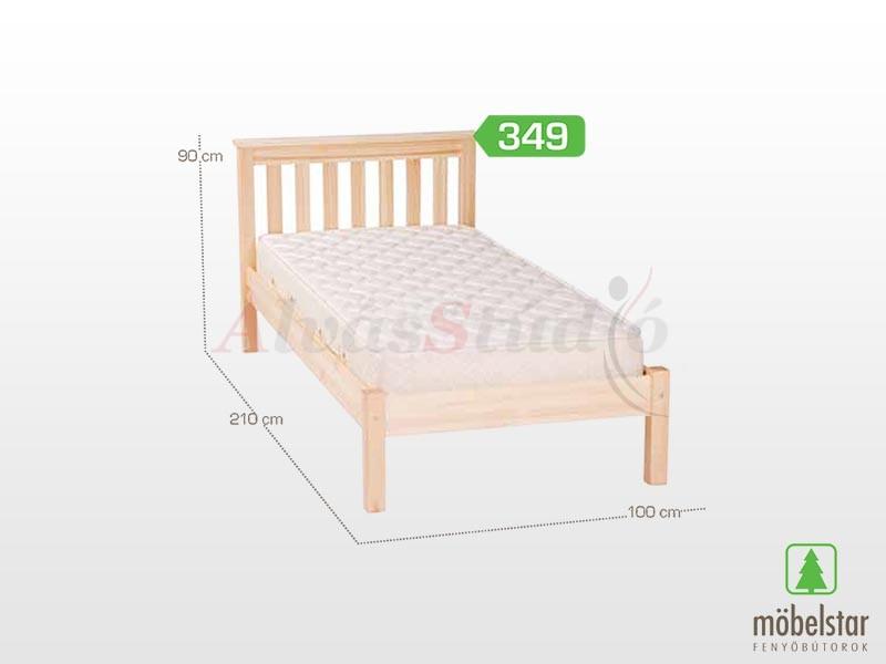 Möbelstar  349 - fenyő ágykeret (natúr) 90x200 cm