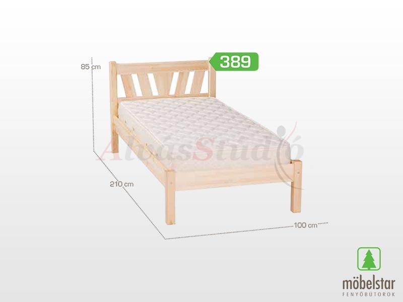 Möbelstar 389 - fenyő ágykeret (natúr) 90x200 cm