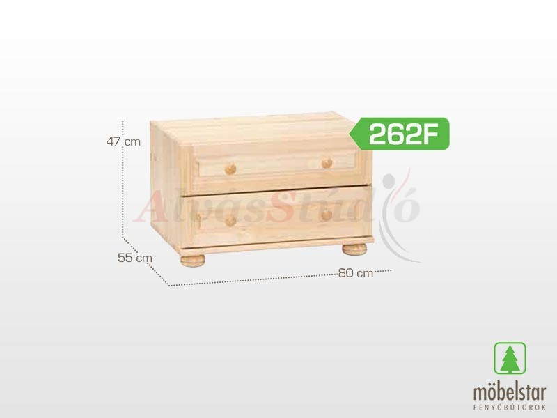Möbelstar 262F - 2 fiókos szekrény magasító 47x55 cm