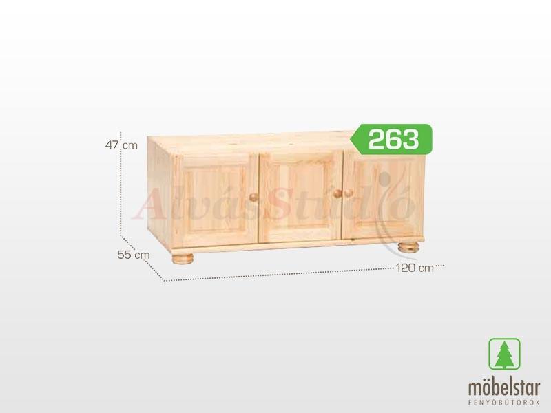 Möbelstar 263 - 3 ajtós szekrény magasító 47x55 cm