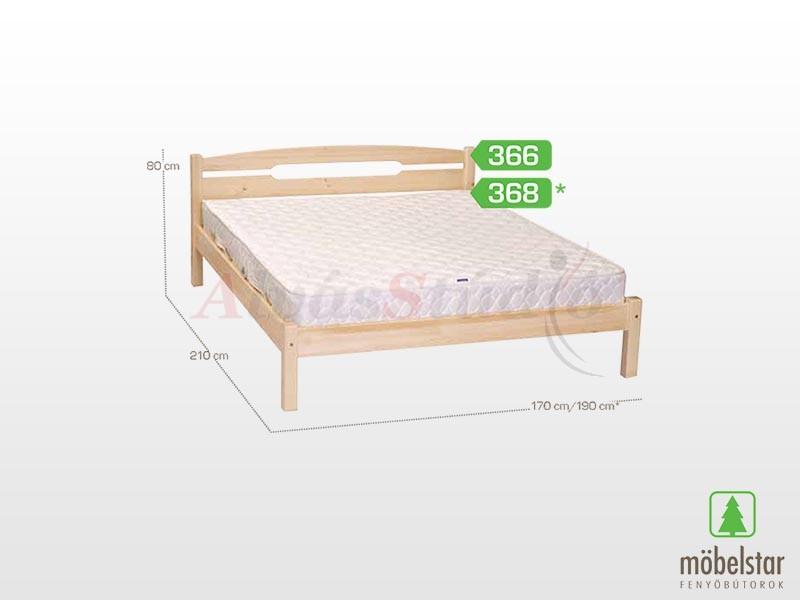 Möbelstar 366 - fenyő ágykeret (natúr) 160x200 cm