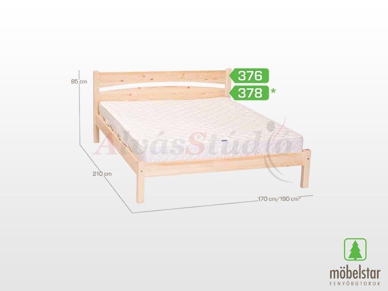 Möbelstar 376 - fenyő ágykeret (natúr) 160x200 cm