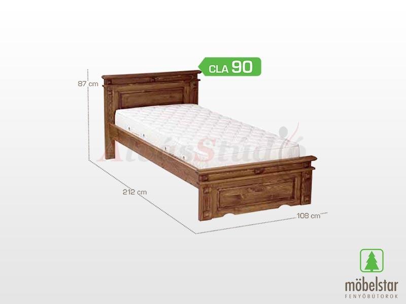 Möbelstar CLA 90 - fenyő ágykeret (pácolt) 90x200 cm