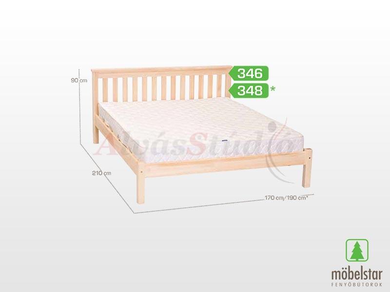 Möbelstar 346 - fenyő ágykeret (natúr) 160x200 cm