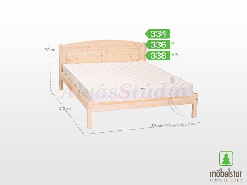 Möbelstar 338 - fenyő ágykeret (natúr) 180x200 cm