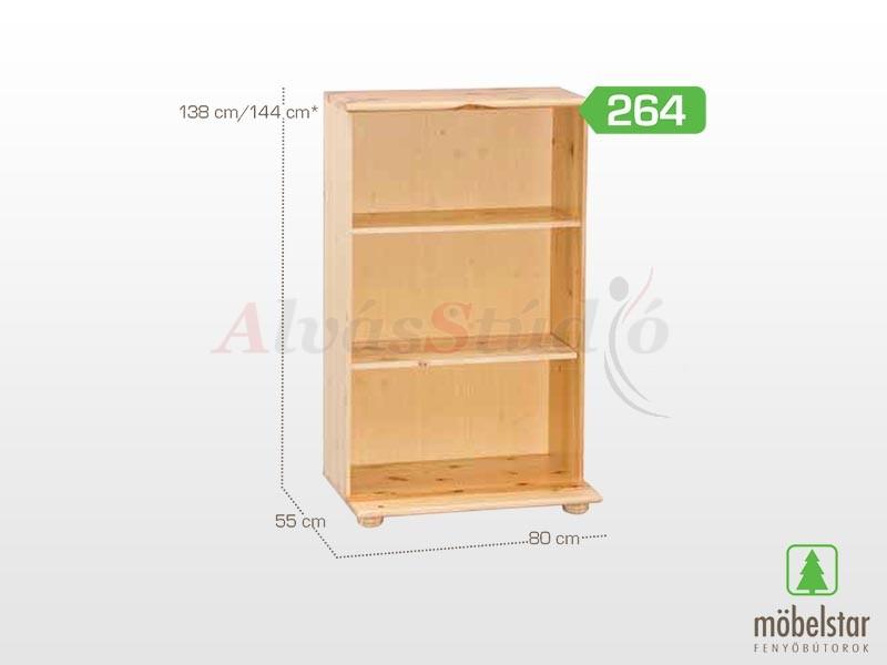 Möbelstar 264 - Polcos elem 138x55 cm