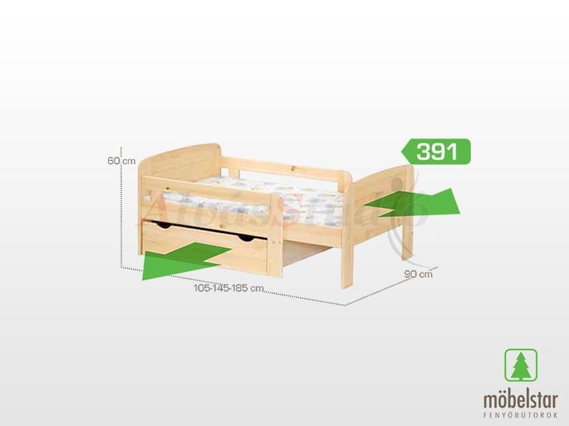 Möbelstar 391 - gyerekágy 90x105 cm