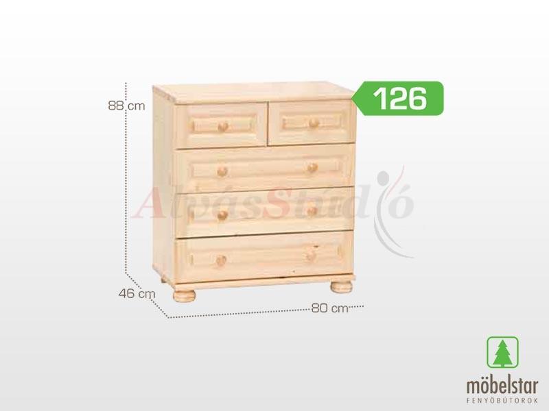 Möbelstar 126 - 3 fiókos - 2 fiókos komód 88x46 cm