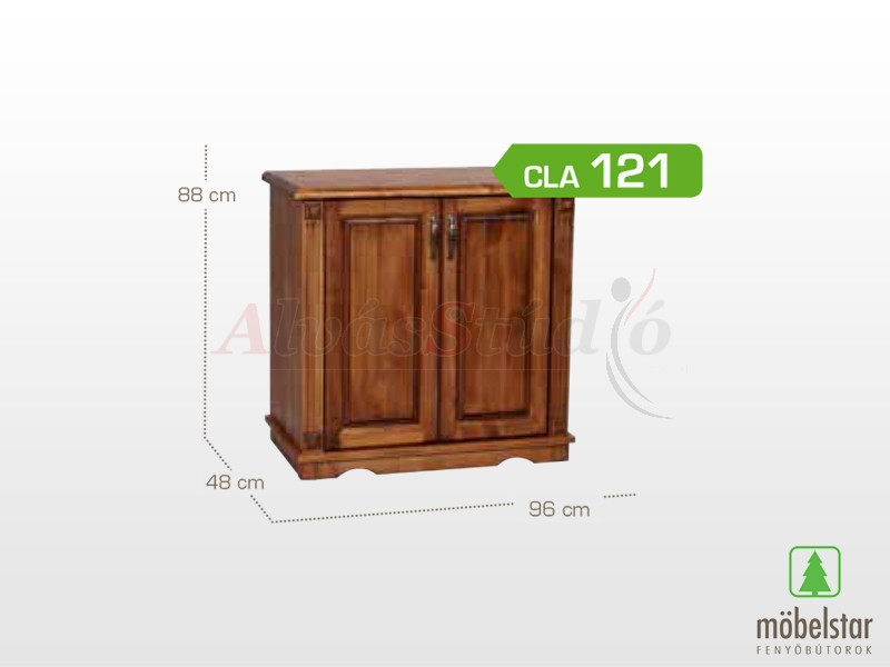 Möbelstar CLA 121 - 2 ajtós pácolt komód 88x48x96 cm