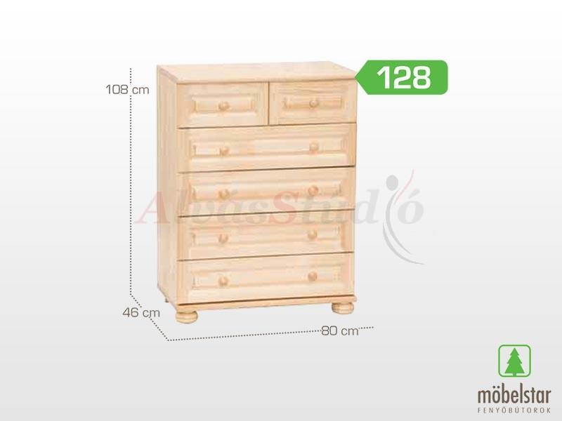 Möbelstar 128 - 4 fiókos 2 fiókos komód 108x46 cm