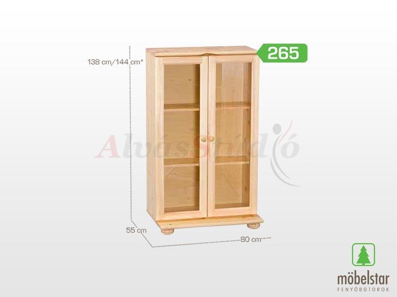Möbelstar 265 - vitrines elem 138x55 cm