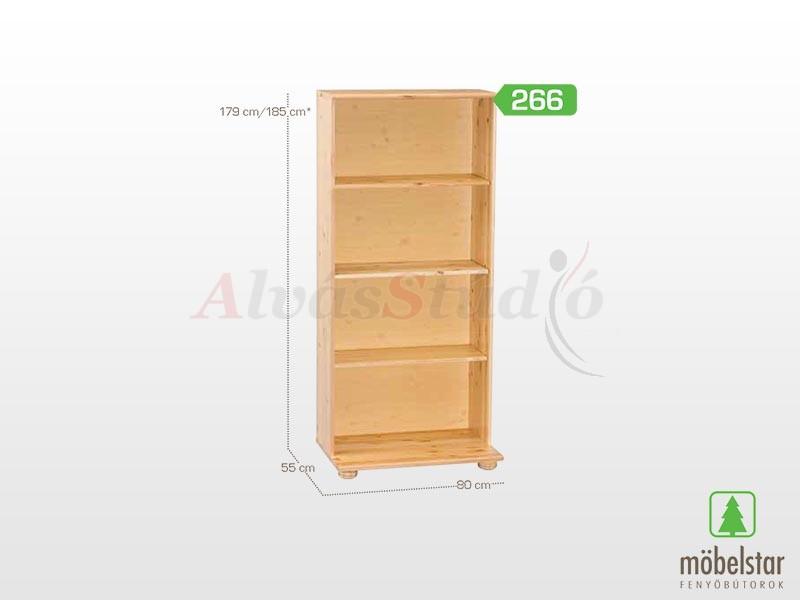 Möbelstar 266 - Polcos elem 179x55 cm