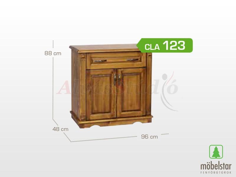 Möbelstar CLA 123 - 2 ajtós pácolt 1 fiókos komód 88x48x96 cm