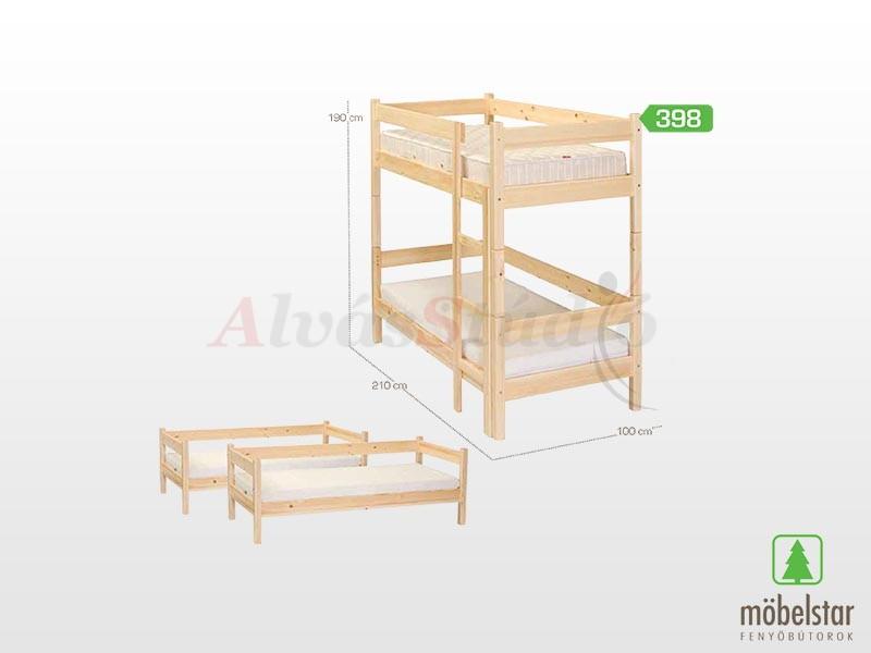 Möbelstar 398 - emeletes gyerekágy keret 90x200 cm