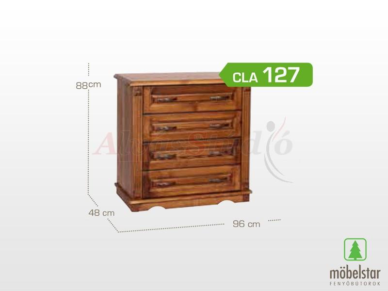 Möbelstar CLA 127 - 4 fiókos pácolt komód 88x48x96 cm