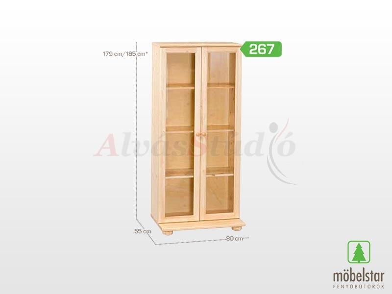 Möbelstar 267 - vitrines elem 179x55 cm