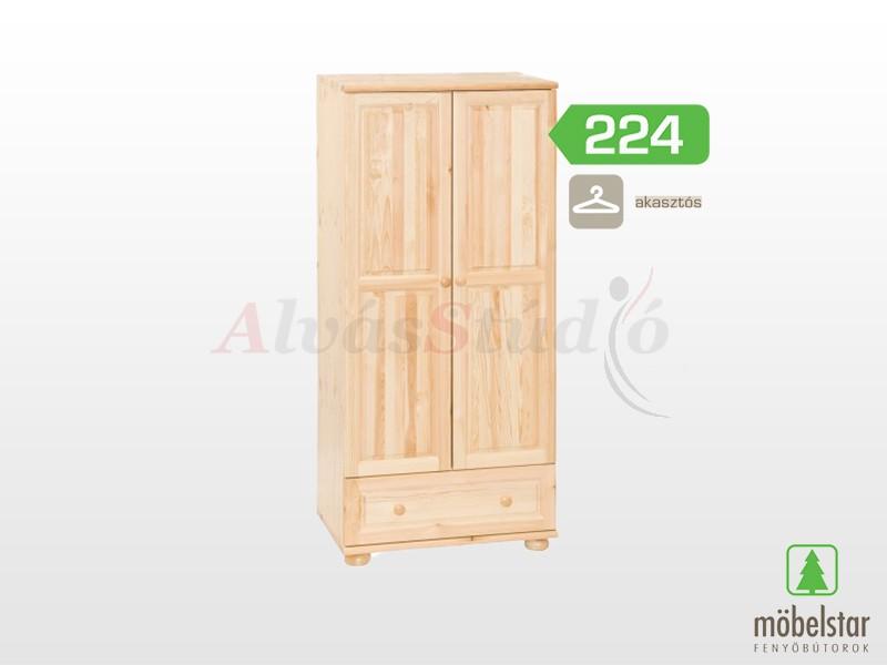 Möbelstar 224 - 2 ajtós 1 fiókos szekrény, akasztós 185x55x80 cm