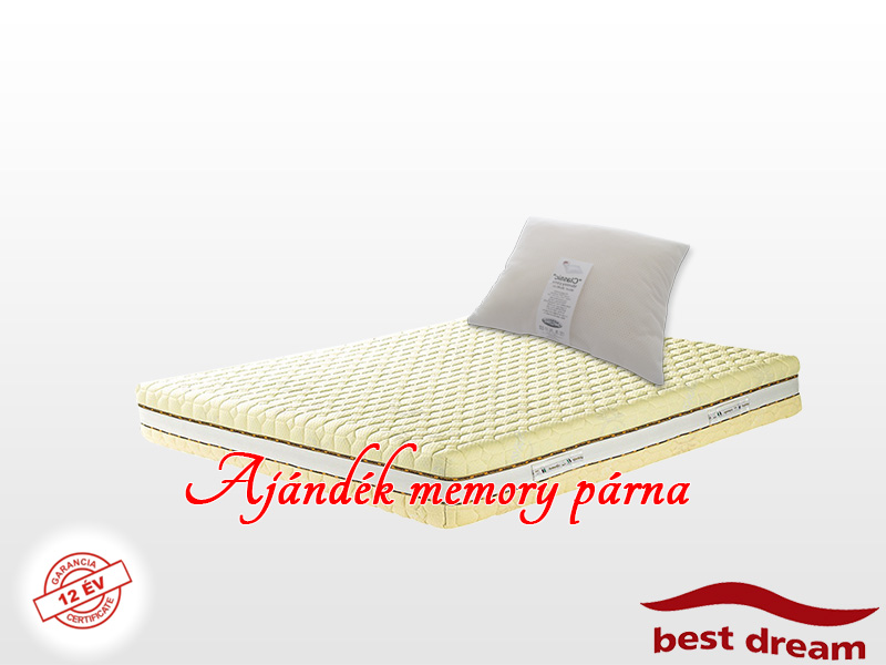 Best Dream Genesi HD memory matrac 130x190 cm Genesi huzattal AJÁNDÉK MEMORY PÁRNÁVAL