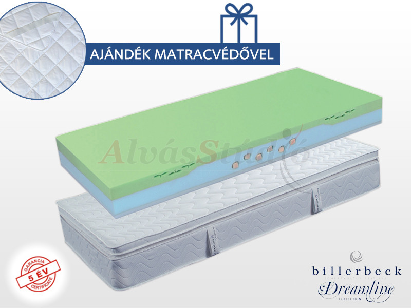 Billerbeck Nizza hideghab matrac 180x200 cm lószőr - latex topperrel