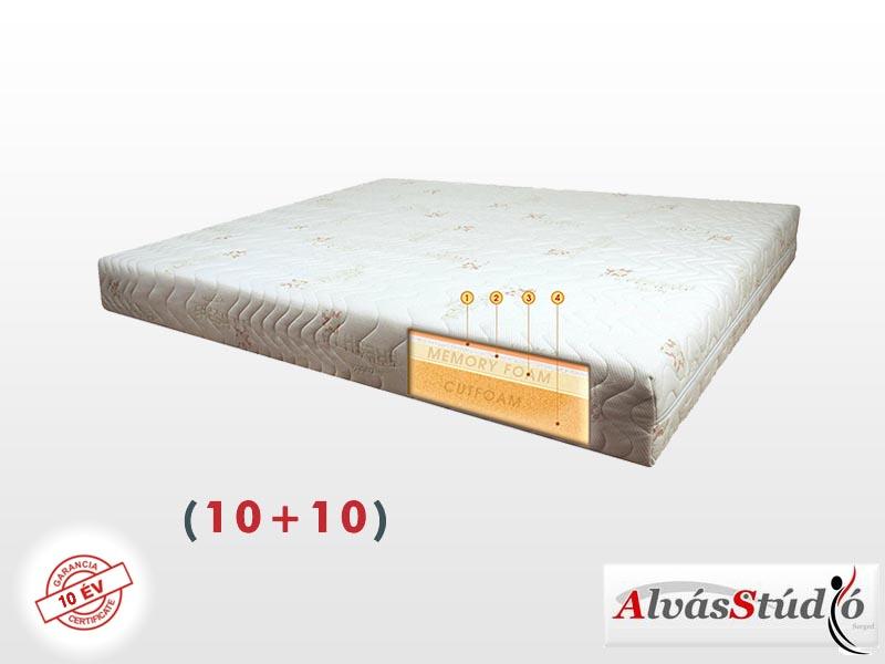 Alvásstúdió Memory X (10+10) memory matrac 190x200 cm Aloe Vera huzattal