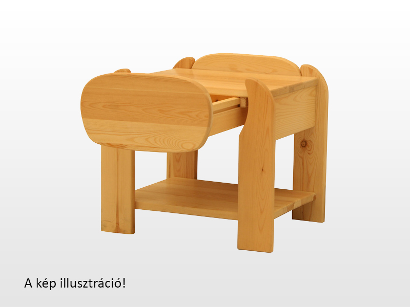 Kofa Szilvi bükk éjjeliszekrény 40x46 cm