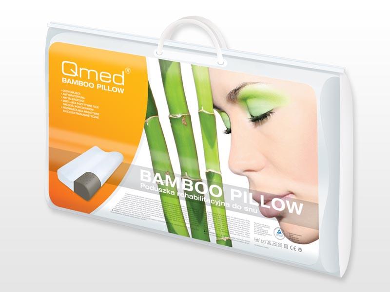 QMED Bamboo memory párna 52x32 cm