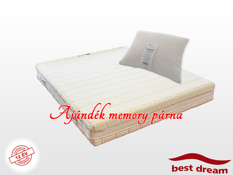 Best Dream Medical HD memory matrac 80x200 cm Silver Comfort huzattal AJÁNDÉK MEMORY PÁRNÁVAL
