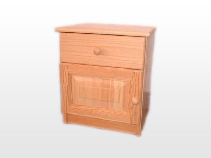 Kofa 1 fiókos 1 ajtós fenyő éjjeliszekrény 40x46 cm