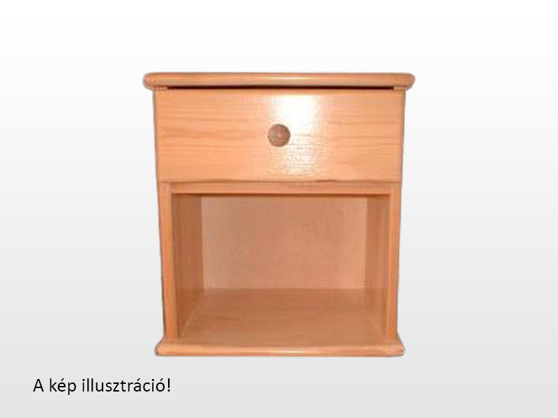 Kofa 1 fiókos fenyő éjjeliszekrény 40x46 cm