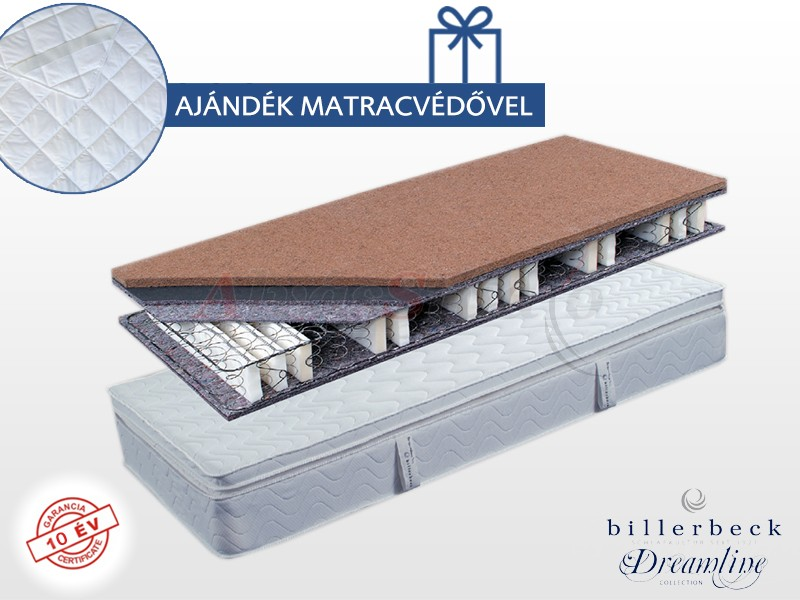 Billerbeck Karlsbad bonellrugós matrac 100x200 cm kókusz-latex topperrel