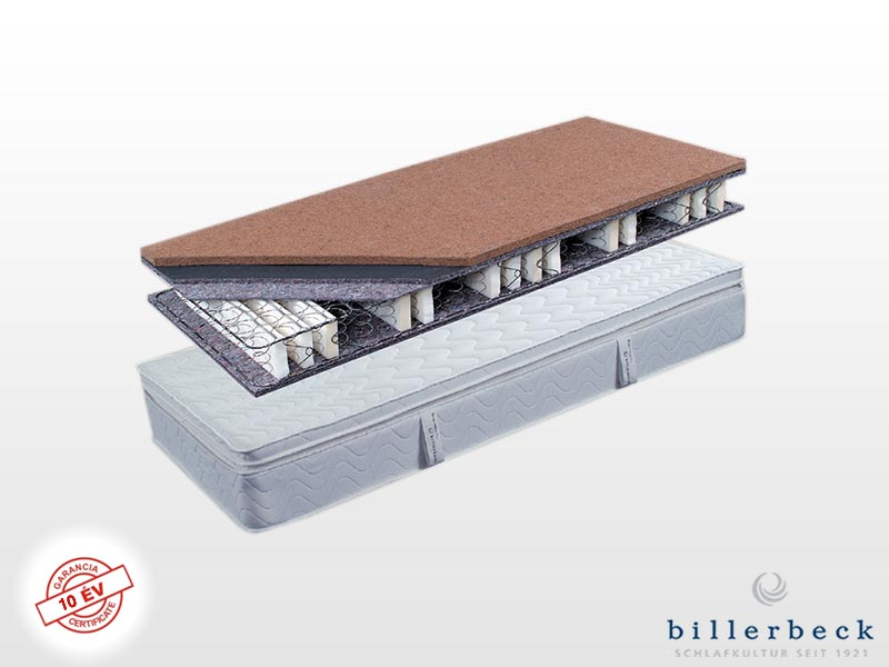Billerbeck Karlsbad bonellrugós matrac 200x200 cm (2db 100x200 cm összezippzárolva) masszírozó hab topperrel