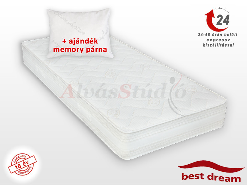 Best Dream Siglo hideghab matrac 140x200 cm AJÁNDÉK MEMORY PÁRNÁVAL vákuumcsomagolt