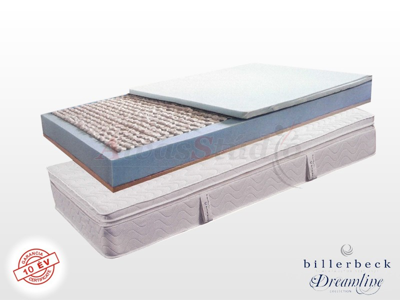 Billerbeck Monaco zsákrugós matrac 120x200 cm viszkoelasztikus - PU hab topperrel