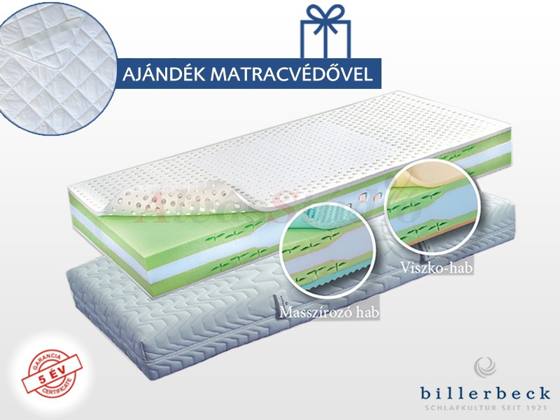 Billerbeck Basel hideghab matrac 100x200 cm Öko SoftNesst padozattal