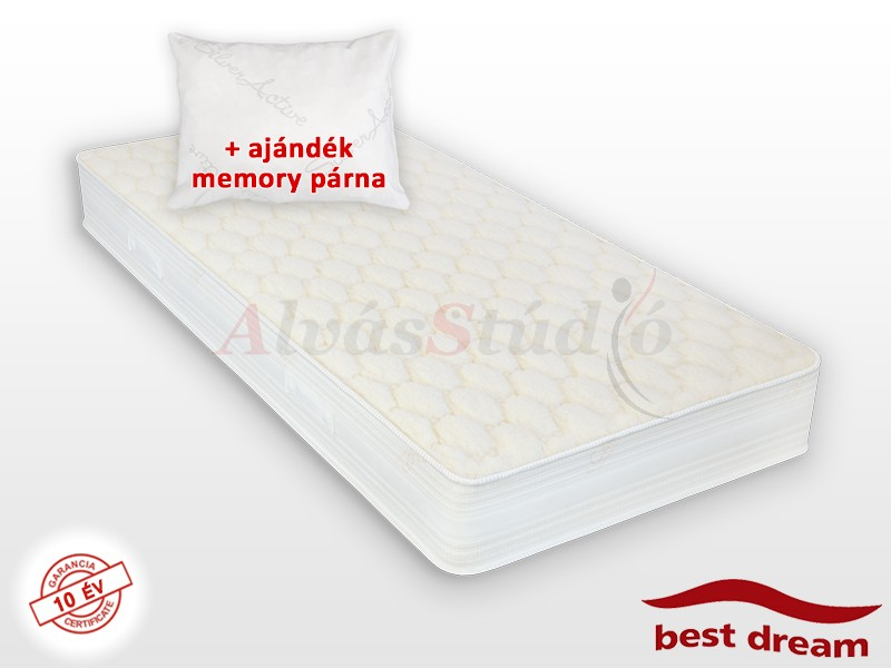 Best Dream Wools hideghab matrac 190x200 cm AJÁNDÉK MEMORY PÁRNÁVAL vákuumcsomagolt