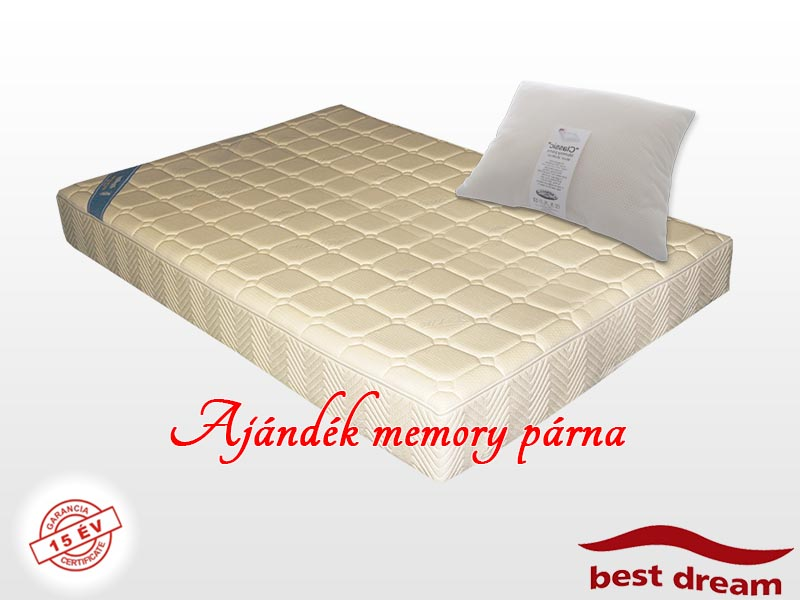 Best Dream Luxury Memory vákuum matrac 90x210 cm AJÁNDÉK MEMORY PÁRNÁVAL