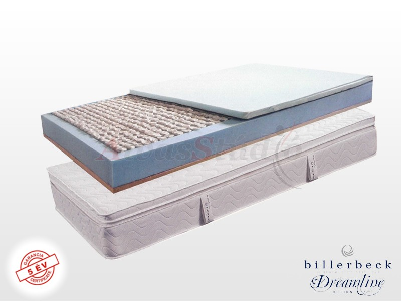 Billerbeck Monaco zsákrugós matrac 180x220 cm kókusz-latex topperrel